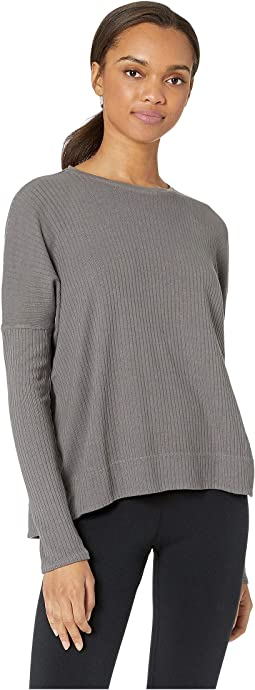 Long Sleeve Float Hem Crew Tee