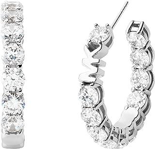 Women's Silver-Tone Brass Hoop Earring (Model: MKJ7311040)