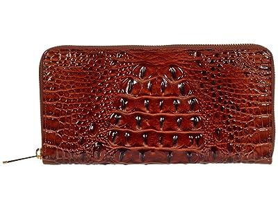 Brahmin Melbourne Skyler Wallet (Pecan) Wallet Handbags