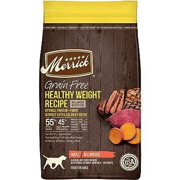 Merrick Grain Free Dry Dog Food Healthy Weight Recipe