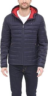 Men's Water Resistant Ultra Loft Filled Hooded Puffer Jacket