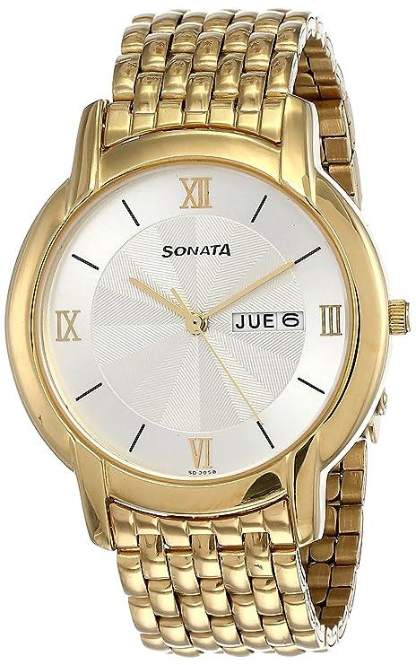 Sonata Analog White Dial Men's Watch NM7954YM01W/NN7954YM01W Wrist Watches