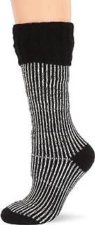 Heat Holders Ladies Boot Socks, Black/Cream, 5-9