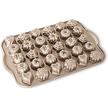 Nordic Ware Platinum Collection Cast-Aluminum Nonstick Tea-Cake and Candy Mold
