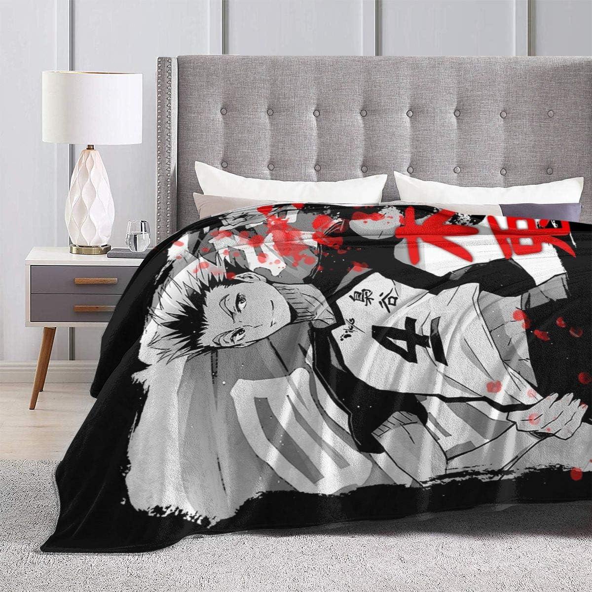 Fleece Blanket Throw Multi-Size Multicolor Haikyuu Tobio Kageyama Poster Lightweight Super Soft Cozy Luxury Bed Quilt Microfiber Gift For Living Room Bedroom Nursery 50X40Blanket For Kids