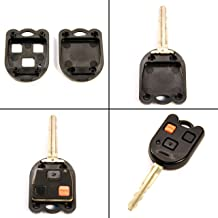 STAUBER Key Shell Replacement for Toyota Land Cruiser and FJ Cruiser/NO Locksmith Required Using Your Old Key and chip! - Black