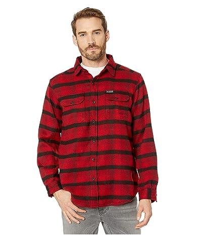 Columbia Deschutes Rivertm Heavyweight Flannel (Mountain Red Medium Plaid) Men