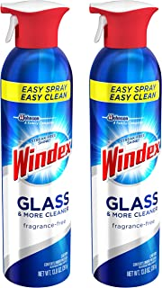 Windex Glass and More Cleaner No Fragrance 13.8 Ounces 2 Pack