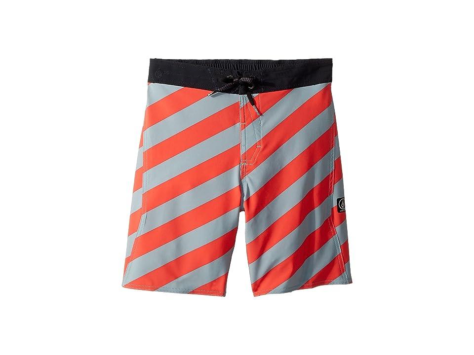 Volcom Kids Stripey Elastic Boardshorts (Little Kids/Big Kids) (Lead) Boy