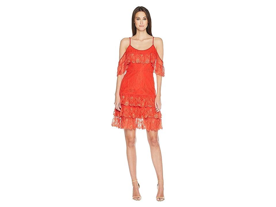 ML Monique Lhuillier - ML Monique Lhuillier Cold Shoulder Lace Dress
