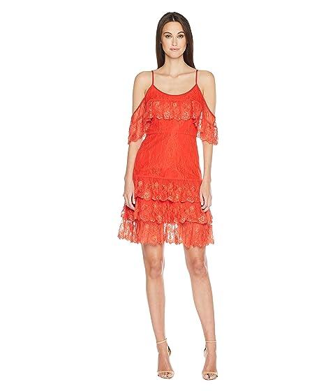 ML Monique Lhuillier Cold Shoulder Lace Dress