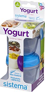 Sistema TO GO Yoghurt Pot 2 Pack Hang sell, Assorted colours