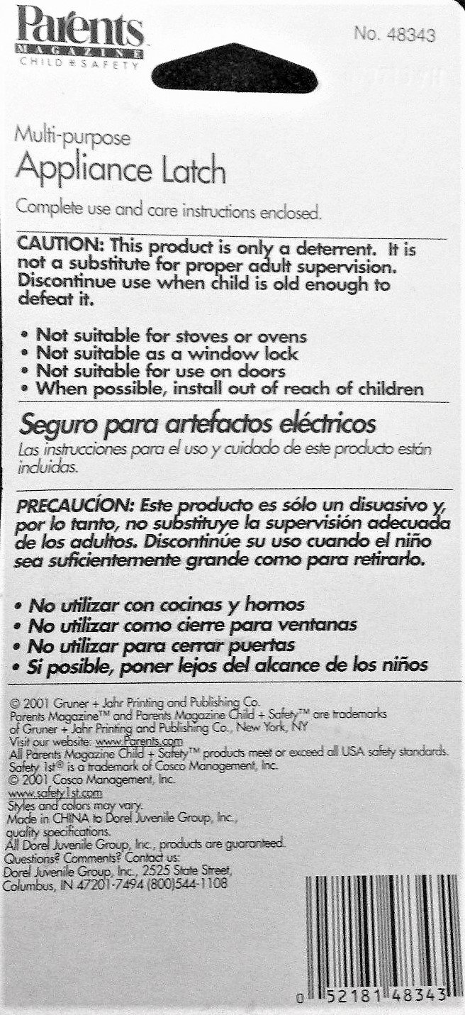 Parents Magazine Multi-purpose Appliance Latch