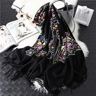 Schal Marke Frauen Schal Winter Kaschmir Schals Dame Schals Und Wickel Weibliche Decke Stickerei Schals