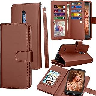 Tekcoo LG K30 Case,LG Harmony 2 / LG Xpression Plus/Phoenix Plus / K30 Plus/LG Premier Pro Wallet Case, ID Cash Credit Card Holder PU Leather Carrying Flip Cover [Detachable Magnetic Case] -Brown