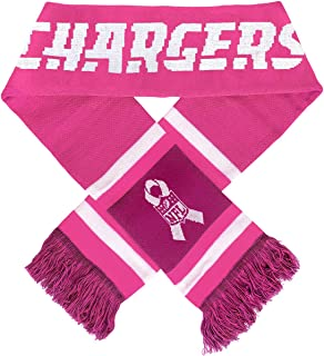 Forever NFL San Diego Chargers Pink Breast Cancer Awareness Team Stripe Knit Scarf