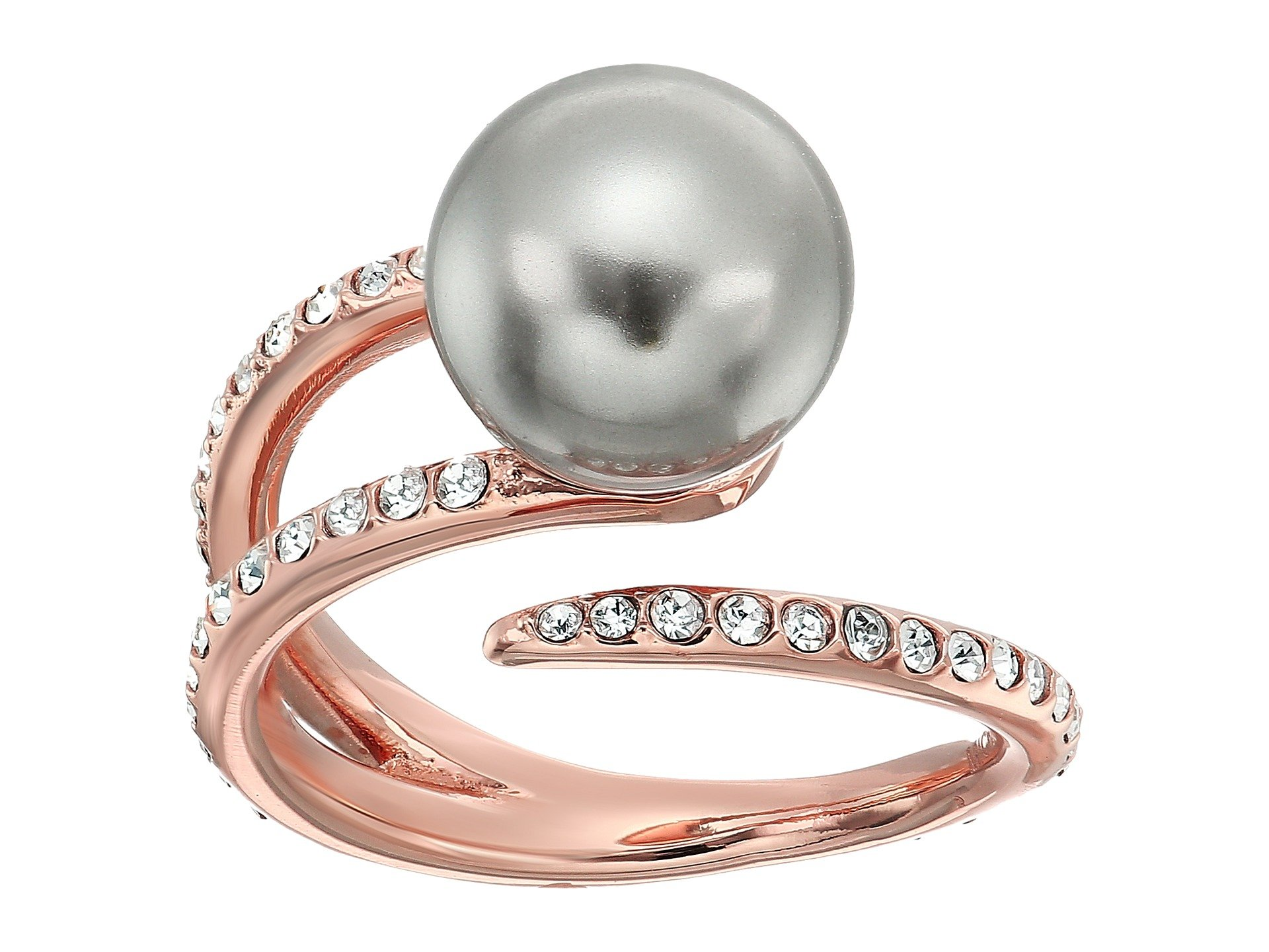 Anillo para Mujer Michael Kors Pearl Tone Pave Crystal and Grey Pearl Open Ring  + Michael Kors en VeoyCompro.net