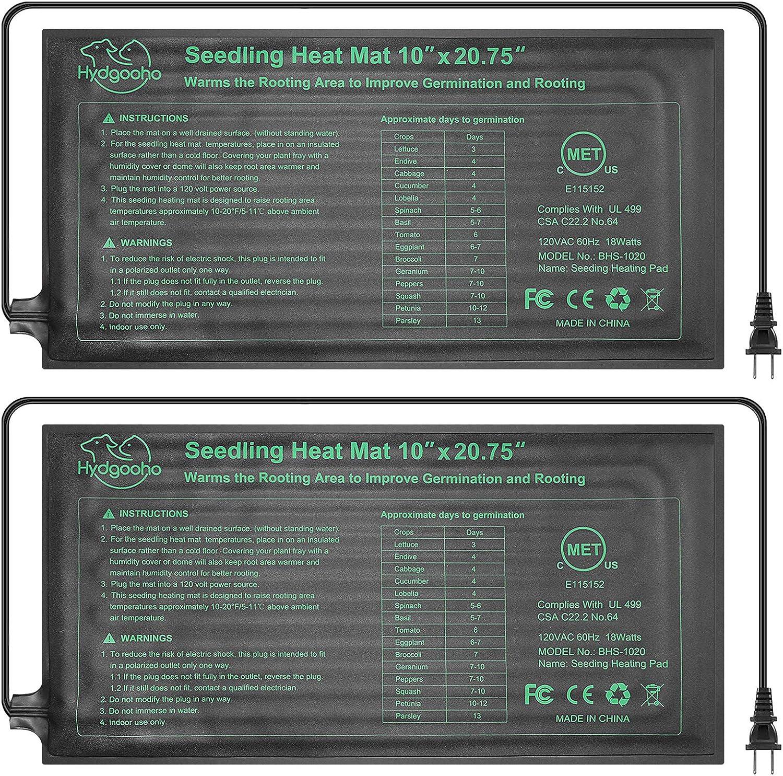 Seedling Heat Mat mart 2-Pack Ranking TOP9 Upgraded for Durable Waterproof Indoor