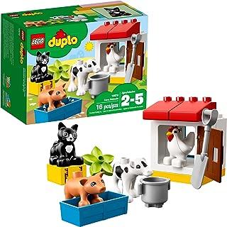 LEGO Duplo Town Farm Animals 10870 Building Kit (16 Piece), Multi