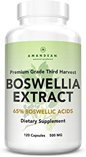 Premium Boswellia Serrata Extract | 500mg 120 Veggie Capsules | Standardized 65% Boswellic Acids with AKBA | Natural Ayurvedic Supplement (Indian Frankincense) for Inflammation and Joint Pain Relief*