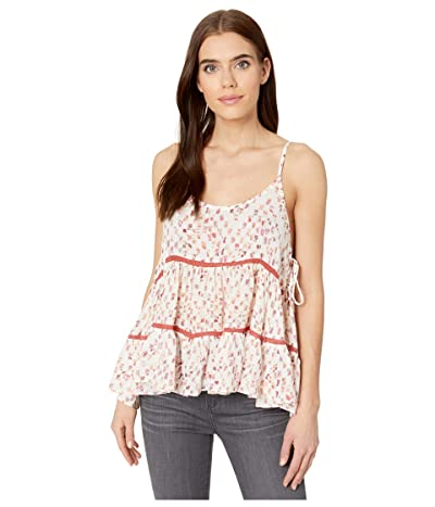 Miss Me Abstract Print Ruffled Cami (Multi Red) Women
