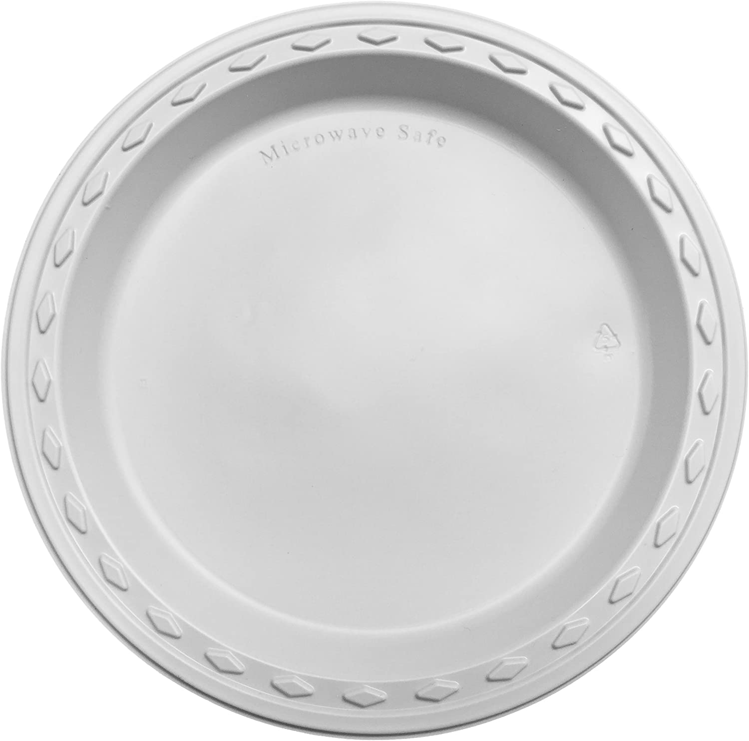 Simply Deliver 10-Inch Plastic Plate, Microwavable and Dishwasher Safe, White, 440-Count