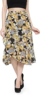 CAMEY Women Printed Wrap Long Skirt
