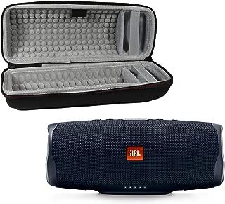 JBL Charge 4 Waterproof Wireless Bluetooth Speaker Bundle with Portable Hard Case - Black