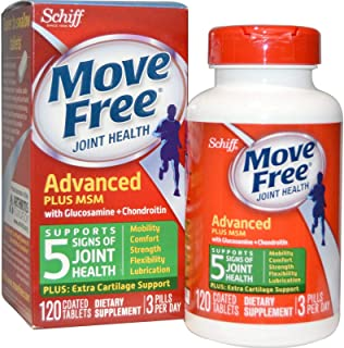 Schiff Move Free Joint Health Glucosamine Chondroitin Plus Msm 120 Tablets
