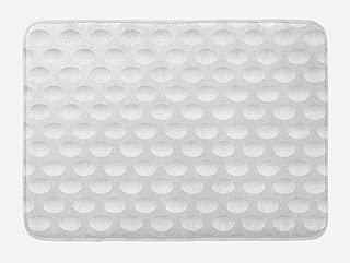 Lunarable Grey Bath Mat, Atrsy Circle Rounds Design Spherical Golf Balls Club Recreation Sports Hobby Themed Image, Plush Bathroom Decor Mat with Non Slip Backing, 29.5