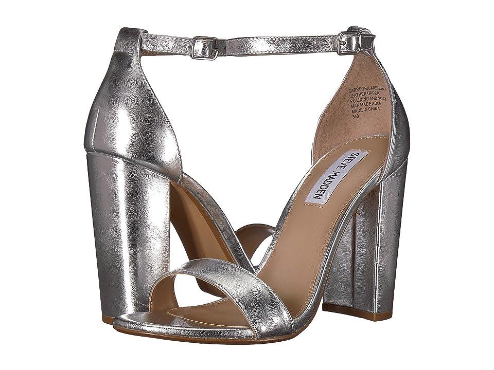 6bc497d0fe8 Steve Madden Carrson Heeled Sandal (Silver) High Heels