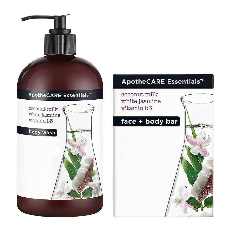 傾向があります拡大するメロドラマBody Wash and Bar Soap, Coconut Milk, White Jasmine, Vitamin B3, 16 oz 473 ml
