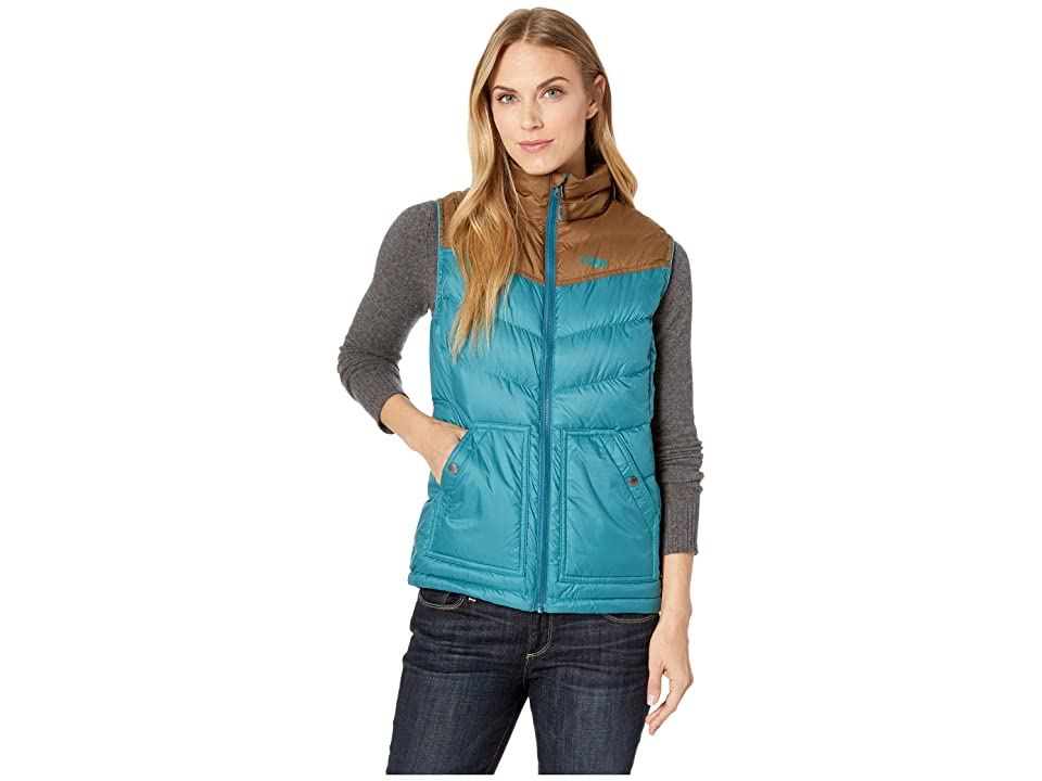 Outdoor Research Transcendent Down Vest (Washed Peacock/Carob) Women