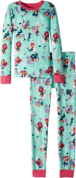 Underwater Kingdom Long Sleeve Pajama Set (Toddler/Little Kids/Big Kids)
