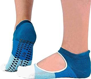 2 Pares Mujer Algodon Tobillero Invisibles Antideslizantes Calcetines para Yoga y Pilates con Alto Talon