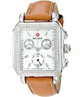 Michele - Deco Diamond, Diamond Dial Saddle Strap Watch