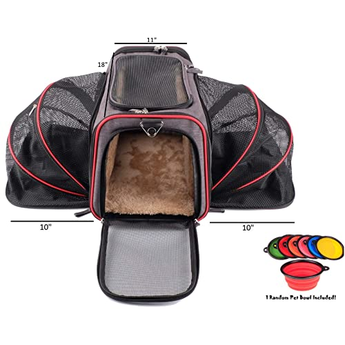 c00e18981ac Premium Airline Approved Expandable Pet Carrier by Pet Peppy- Two Side  Expansion, Designed for