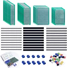 5 Sizes Universal Printed Circuit Board for DIY Soldering and Electronic Project UA042 UNIROI 35pcs Double Sided PCB Board Prototype Kit