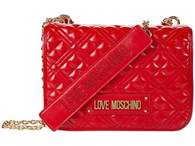 LOVE Moschino Quilted Shoulder Bag (Red) Handbags