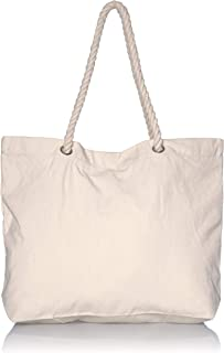 canvas bag with rope handles