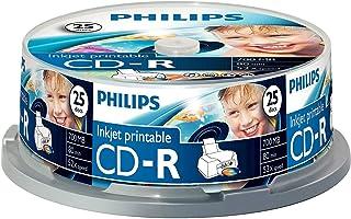 Philips CD-R CR7D5JB25/00 - CD-RW vírgenes (CD-R, 700 MB, 80 min, 52x)