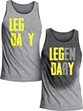 Actizio Sweat Activated Funny Motivational Men's Tank Top, Leg Day - Legendary