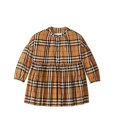 Burberry Kids Marny Check Dress (Little Kids/Big Kids) (Antique Yellow IP Check) Girl