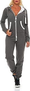 9t5 Damen Jumpsuit Jogger Jogging Anzug Trainingsanzug Einteiler Overall