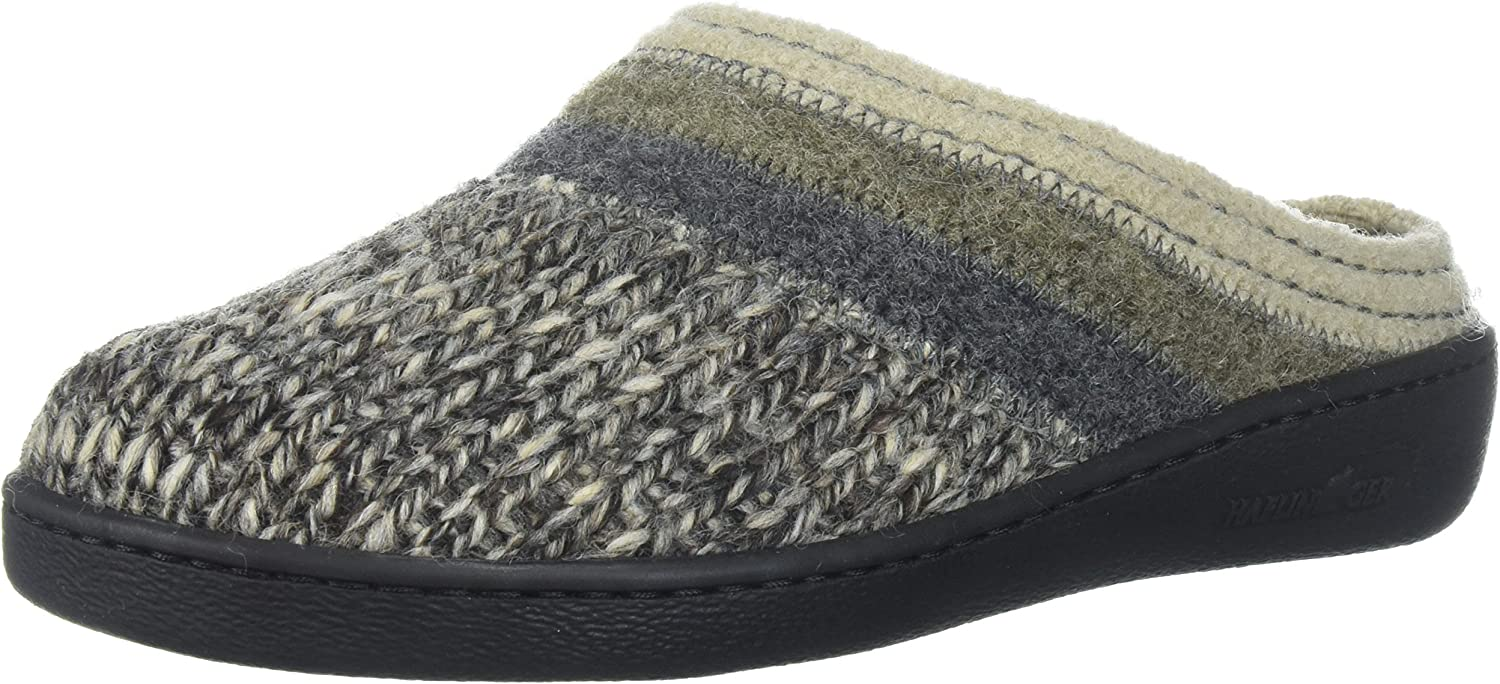 Haflinger Men's at Jade M Slip On Slipper, Grey, 37 EU 6 M US