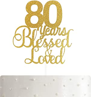 Best cake toppers 80th Reviews