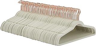 Amazon Basics Velvet Suit Hangers, 100-Pack, Ivory/Gold