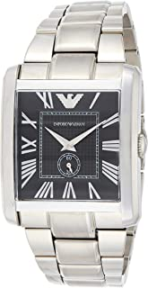 Emporio Armani Mens Quartz Watch, Analog Display and Stainless Steel Strap AR1642