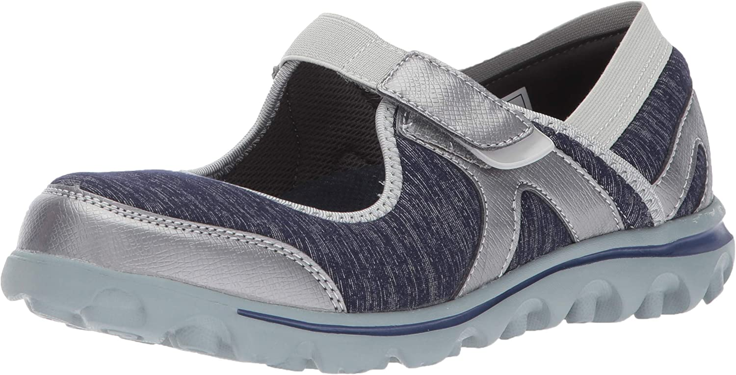 Propet Women's discount Onalee Mary Jane Blue Al sold out. Flat 7 Silver