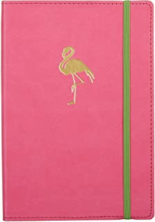 """C. R. Gibson Debossed Journal (Gold Foil Flamingo on Pink Journal) 6"""" x 8"""""""